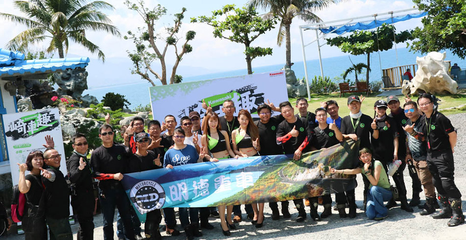 在南臺灣的授權經銷商們也帶著車友們一同前來參與活動,凝聚Kawasaki車友之間的感情。
